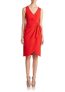 Badgley Mischka Crossover Side-Tie Sheath