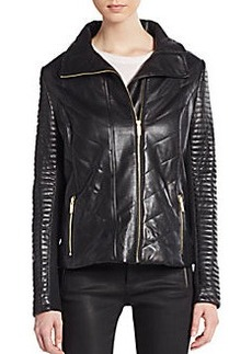 Badgley Mischka Dion Quilted Leather Jacket
