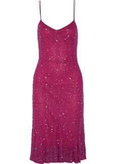 Badgley Mischka Embellished tulle dress