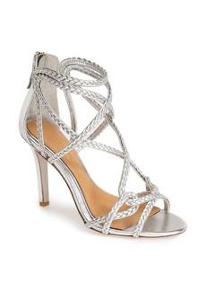 Badgley Mischka 'Evoke' Metallic Leather Sandal (Women)