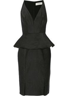 Badgley Mischka Faille peplum dress