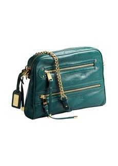 Badgley Mischka forest green leather 'Felicia' crossbody bag