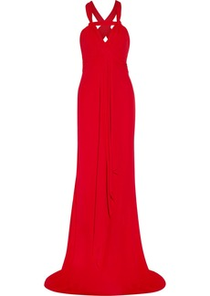 Badgley Mischka Gathered jersey gown