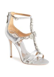 Badgley Mischka 'Giovanna II' Satin Ankle Strap Sandal (Women)