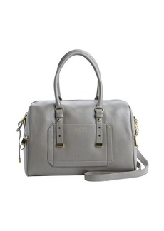 Badgley Mischka grey leather 'Ava' convertible satchel