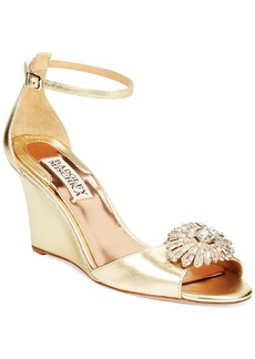 Badgley Mischka Harmony Wedge Evening Sandals