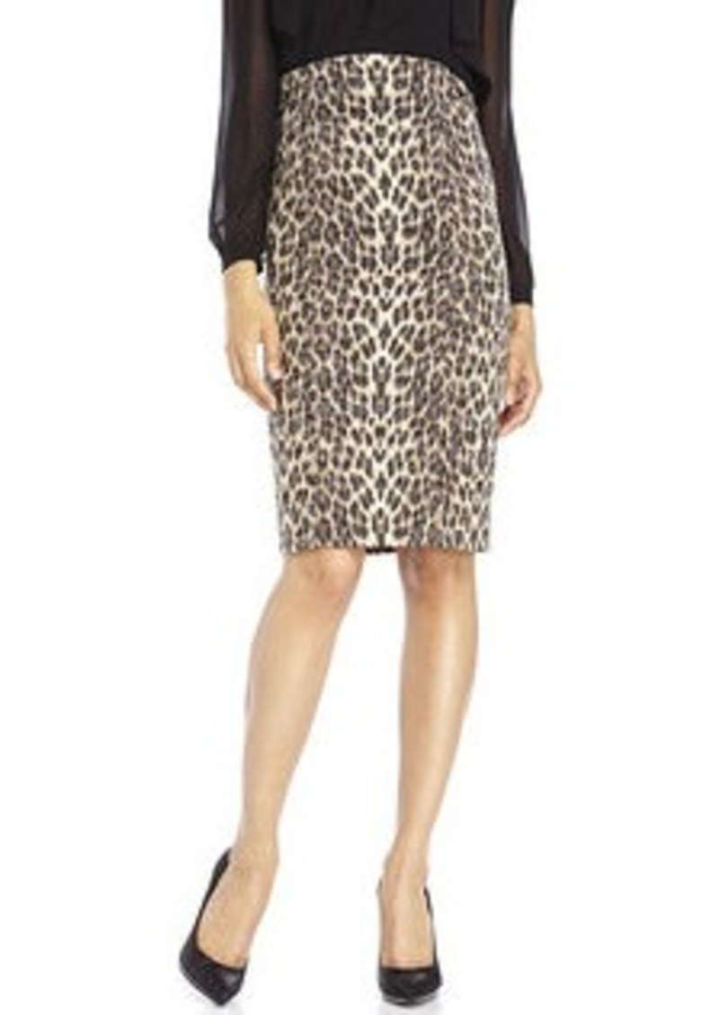 badgley mischka badgley mischka high waist leopard print