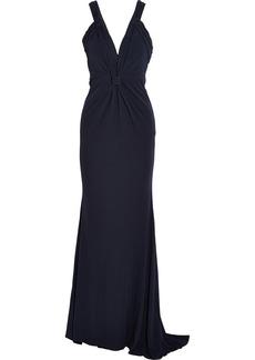 Badgley Mischka Jersey-crepe gown