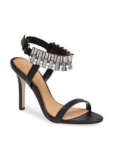 Badgley Mischka 'Kallan' Crystal Cuff Leather Sandal