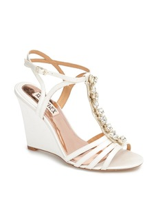 Badgley Mischka 'Kole' T-Strap Wedge Sandal