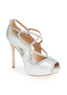 Badgley Mischka 'Laguna' Crystal Embellished Peep Toe Pump (Women)