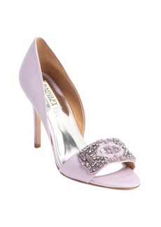 Badgley Mischka lavandar 'Alessandra' crystal-encrusted pumps