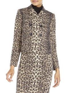 BADGLEY MISCHKA Leopard Print Blazer