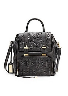 Badgley Mischka Metalassé Leather Backpack
