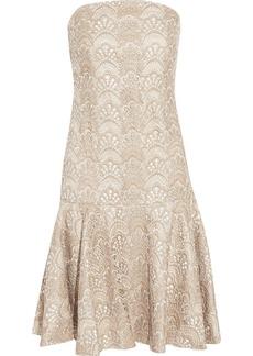 Badgley Mischka Metallic lace dress