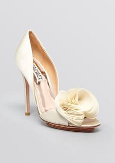 Badgley Mischka Open Toe D'Orsay Evening Pumps - Blossom High Heel