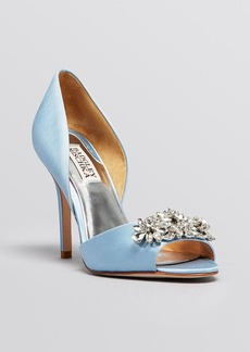 Badgley Mischka Open Toe D'Orsay Evening Pumps - Giana High Heel