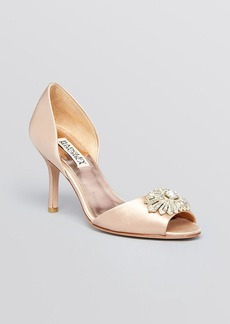 Badgley Mischka Open Toe D'Orsay Evening Pumps - Jazmin High Heel