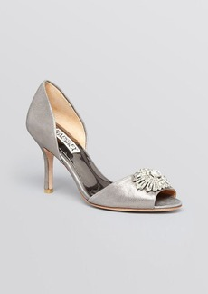 Badgley Mischka Open Toe D'Orsay Evening Pumps - Jazmin High Heel