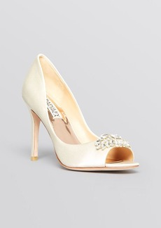 Badgley Mischka Open Toe Evening Pumps - Lavender II High Heel