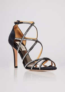 Badgley Mischka Open Toe Evening Sandals - Meghan High Heel
