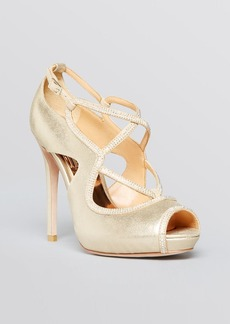 Badgley Mischka Open Toe Platform Evening Sandals - Laguna High Heel