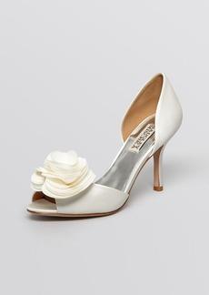 Badgley Mischka Peep Toe D'Orsay Evening Pumps - Thora High Heel