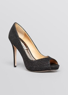 Badgley Mischka Peep Toe Platform Evening Pumps - Kassidy II High Heel