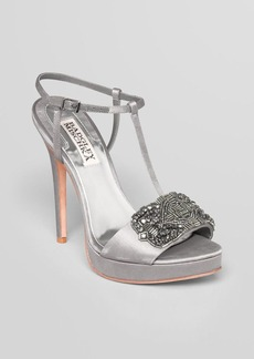 Badgley Mischka Platform Evening Sandals - Amara High Heel