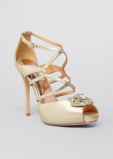 Badgley Mischka Platform Open Toe Evening Sandals - Fisher II High Heel