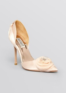 Badgley Mischka Pointed Toe D'Orsay Platform Evening Pumps - Genny High Heel