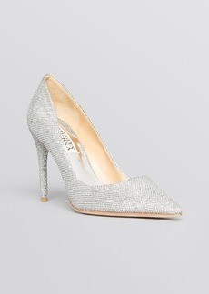 Badgley Mischka Pointed Toe Evening Pumps - Luster High Heel