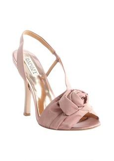 Badgley Mischka rose fabric 'Lanah' rosette heeled sandals