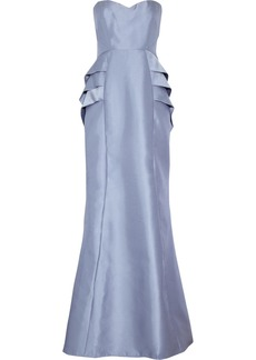 Badgley Mischka Satin-twill gown