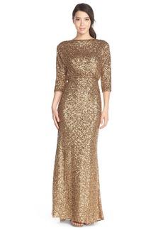 Badgley Mischka Sequin Blouson Gown