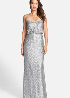 Badgley Mischka Sequin Mermaid Gown