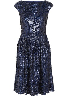 Badgley Mischka Sequined tulle dress