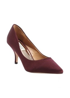 Badgley Mischka wine satin pointed toe 'Monika II' pumps