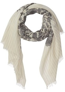 Badgley Mischka Women's Striped Leaf Scarf