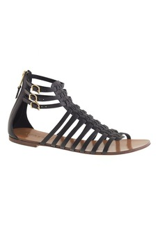 Woven gladiator sandals