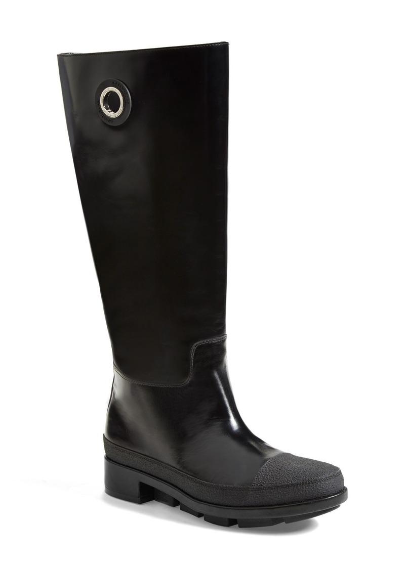 balenciaga balenciaga calfskin leather boot