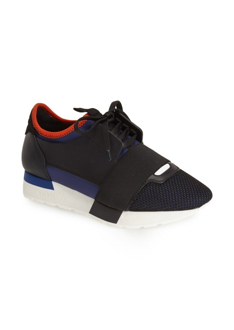 balenciaga balenciaga mixed media trainer sneaker women shoes shop it to me. Black Bedroom Furniture Sets. Home Design Ideas