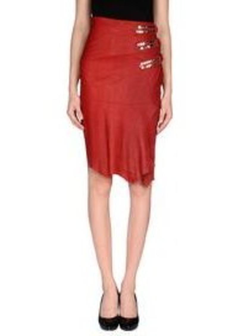 balmain balmain knee length skirt skirts shop it to me