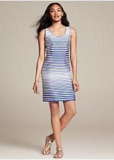 Blue Stripe Racerback Dress