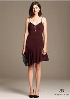 BR Monogram Asymmetrical Dress