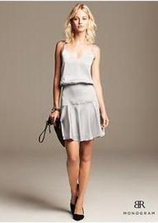 BR Monogram Strappy Shine Dress