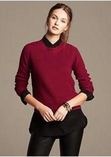 Cropped Ribbed Zip-Back Pullover