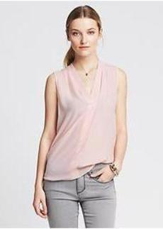 Draped Sleeveless Blouse