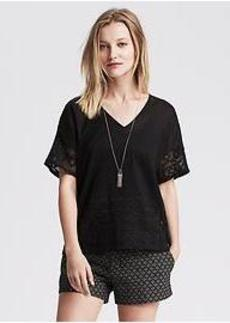 Embroidered-Back Top