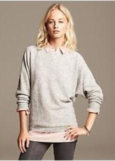 Extra-Fine Merino Wool Cocoon Pullover
